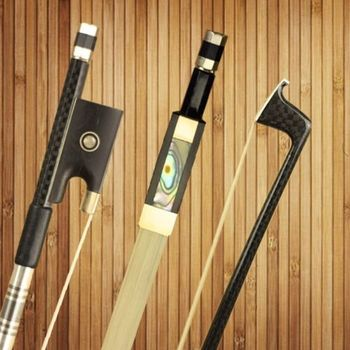 1 Pc Professional New Light Carbon Fiber 4/4 Violin Bow AAA Mongolia White Hair Double Pairs Eye Ebony Frog Violino Accessories