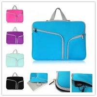Laptop Sleeve Bag Cases Dual Pocket Neoprene Zipper Notebook Bag Pouch For Macbook Air Pro 11