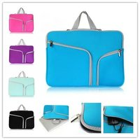 Laptop Sleeve Bag Cases Dual Pocket Neoprene Zipper Notebook Bag Pouch For Macbook Air Pro 11