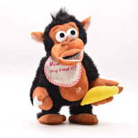 2018 Có Thể điện di chuyển âm nhạc giáo dục tương tác chuối khỉ đa chức năng khỉ trẻ em đồ chơi plush bán buôn