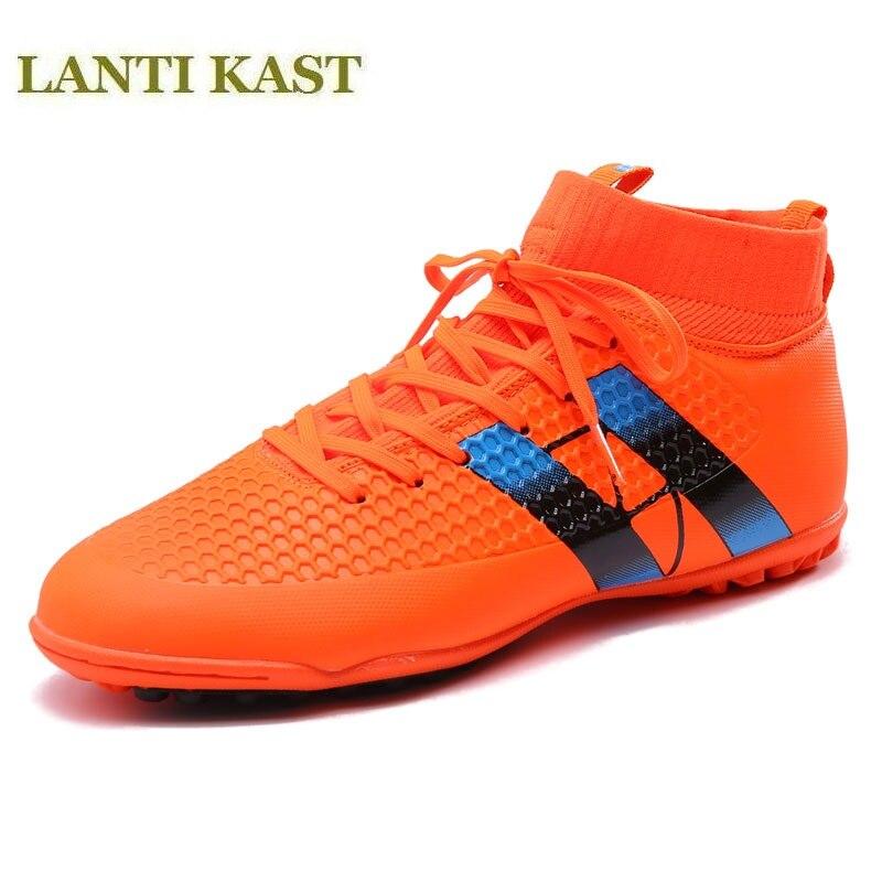 Nouvelle arrivée football bottes longues pointes espadrilles hommes de haute qualité de football chaussures de formation de haute top outdorr chaussures de football