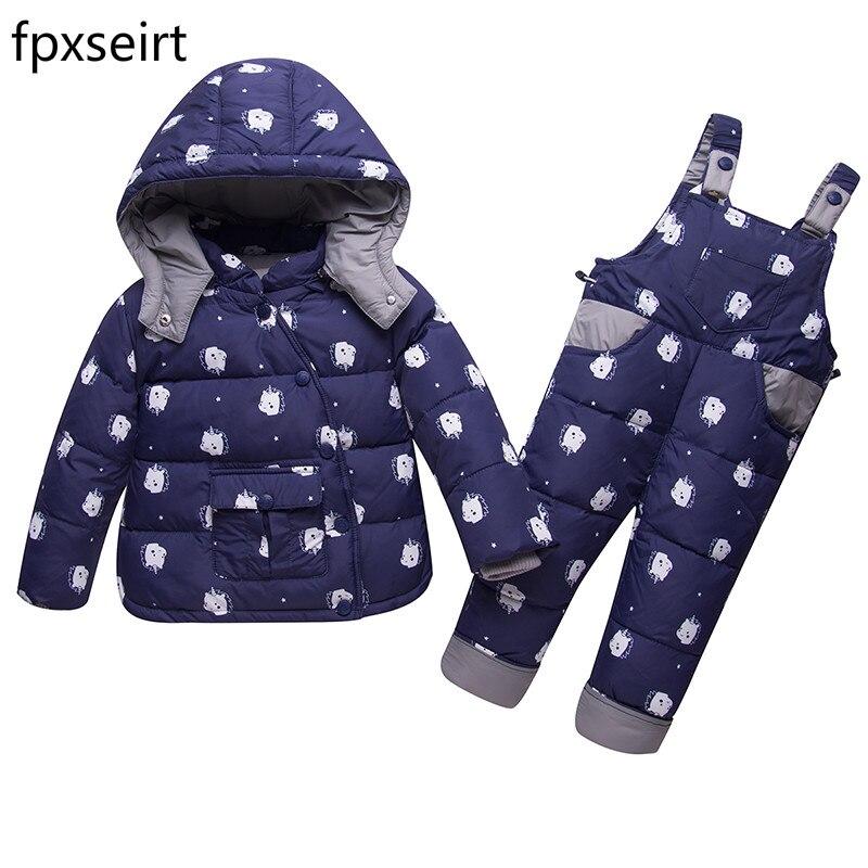 f825df73a05f Windproof Waterproof Winter Suits for Kids Baby Boys Girl Hoodies ...