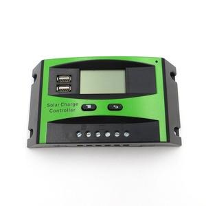 Image 4 - 60A 50A 40A 30A 20A 10A 12V 24V PWM שמש סלולרי פנל סוללה מטען Controller רגולטור LCD תצוגה USB 5V טלפון נייד מטען