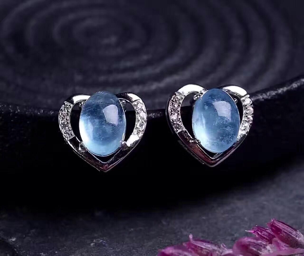 925 Brincos de Cristal de Prata - 5