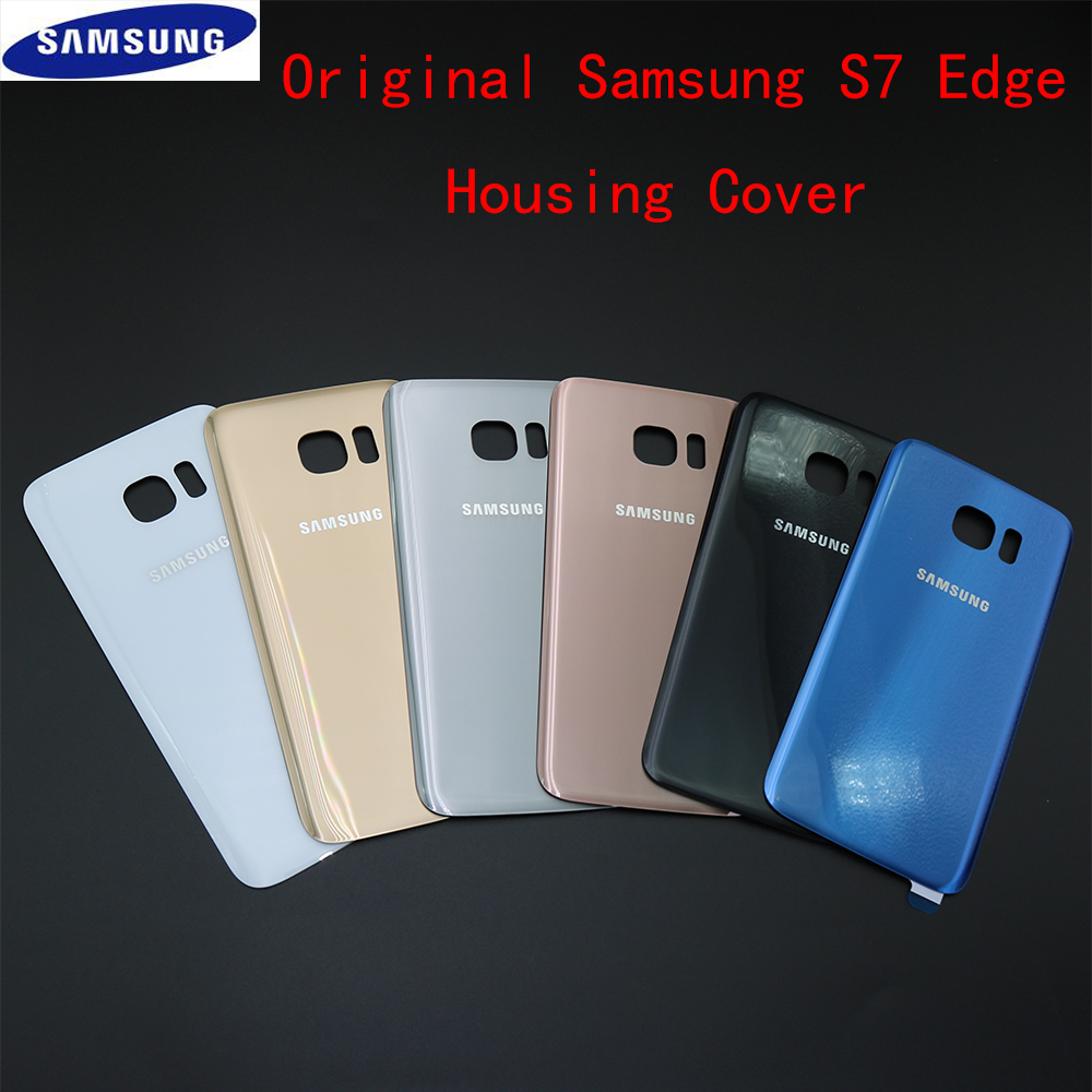 Original Back Glass Cover Replacement For Samsung GALAXY S7 Edge G935 Rear Housing Battery Door Case with Adhesive Sticker