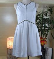 Incrível mulheres vestido de outono, vestido de tecido de seda branca, decore com pérolas cintura, plus size 5xl 6xl elegante vestidos de escritório vestido