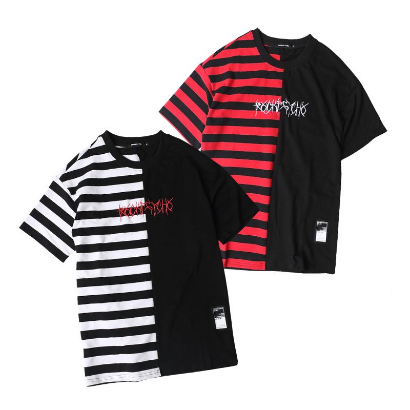 HTB148HDPXXXXXXnaXXXq6xXFXXXD - Striped T-shirt 2017 Summer Hip Hop kanye west embroidery T Shirts PTC 109