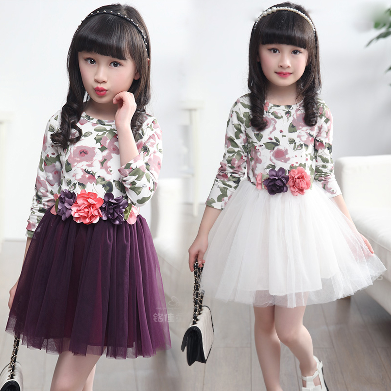 Kids Dresses For Girls Floral Print Girl Dresses 4 5 6 7 8 9 10 11 12 13 14 Years Summer Princess Dresses 2017 Children Clothing makeup clothes for teen girls baby child cotton frock designs clothing girl kids dress for age 5 6 7 8 9 10 11 12 13 14 15 years