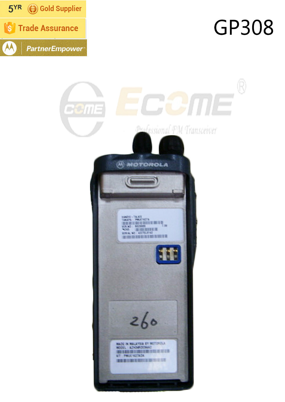Motorola GP308 Portable Walkie Talkie -in Walkie Talkie from Cellphones &  Telecommunications on Aliexpress.com | Alibaba Group