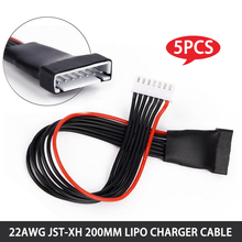5pcs/lot JST-XH 200mm 20cm 2S 3S 4S 5S 6S 22AWG Lipo Steadiness Wire Charger Cable Lead Twine for RC Drones Battery charging