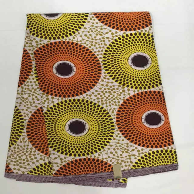 Latest Pretty Color Ankara African Wax Print Fabric Real Java For Women Fashion