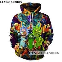 PLstar Cosmos 2017 Fashion Hip Hop 3d Hoodies Hot Cartoon Rick And Morty Printed Women Men