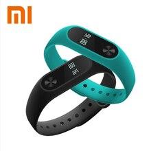 Original xiaomi mi banda 2 inteligente pulseira de fitness monitor de freqüência cardíaca miband mi band2 com oled touchpad smartband