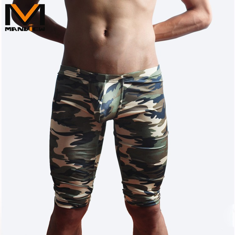 camouflage mens cargo pants fashion sexy camouflage dress camouflage Male Middle Pants Elastic Waist Design  M02-2 17