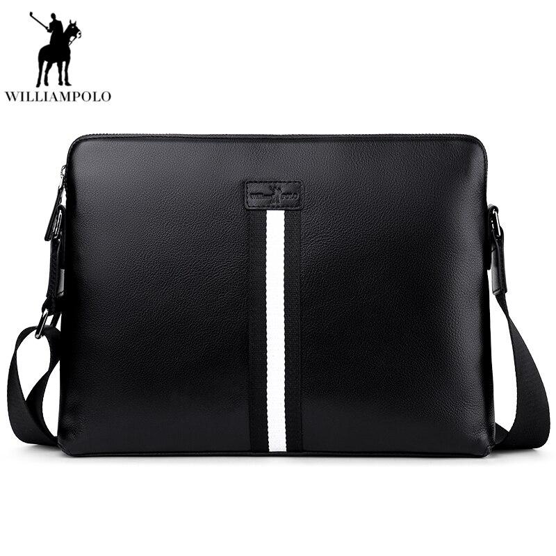 2018 Genuine Cow Leather Casual&Bussiness Bag Men's Handbag Crossbody Shoulder Messenger Bag Zipper Pack For Travel PL019D