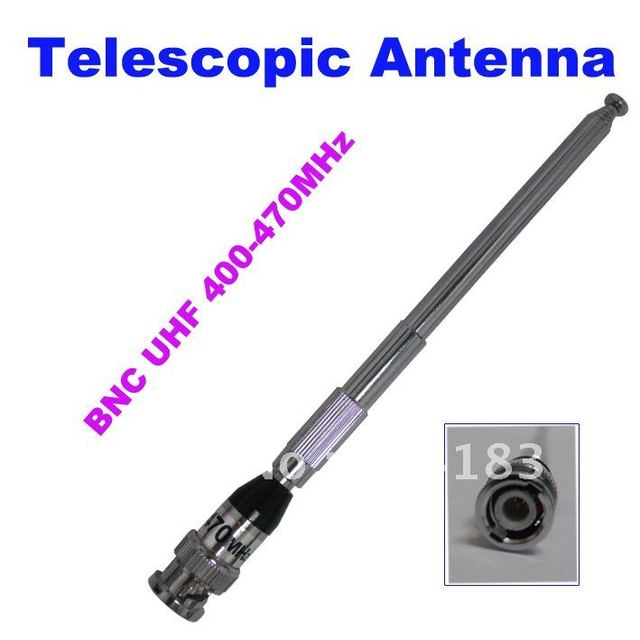 BNC 400-470MHz Telescopic Antenna for Walkie talkie Two-way Radios Transceiver Interphone