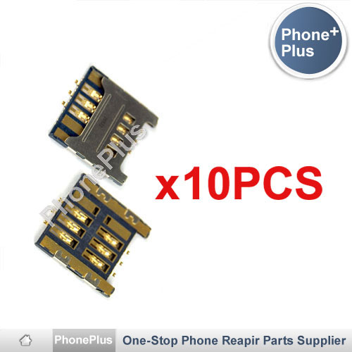 10PCS Sim Card Reader Module Slot Tray Holder Socket Replacement Part For Samsung I9000 I9008 Galaxy S High Quality