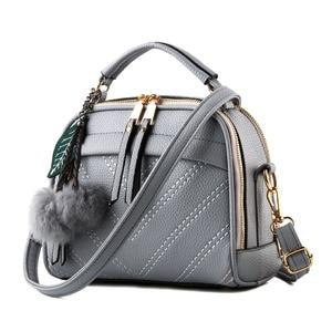 Image 2 - Briggs 패션 품질 가죽 여성 탑 핸들 가방 작은 여성 crossbody 가방 귀여운 어깨 메신저 가방 숙 녀 손 가방에 대 한