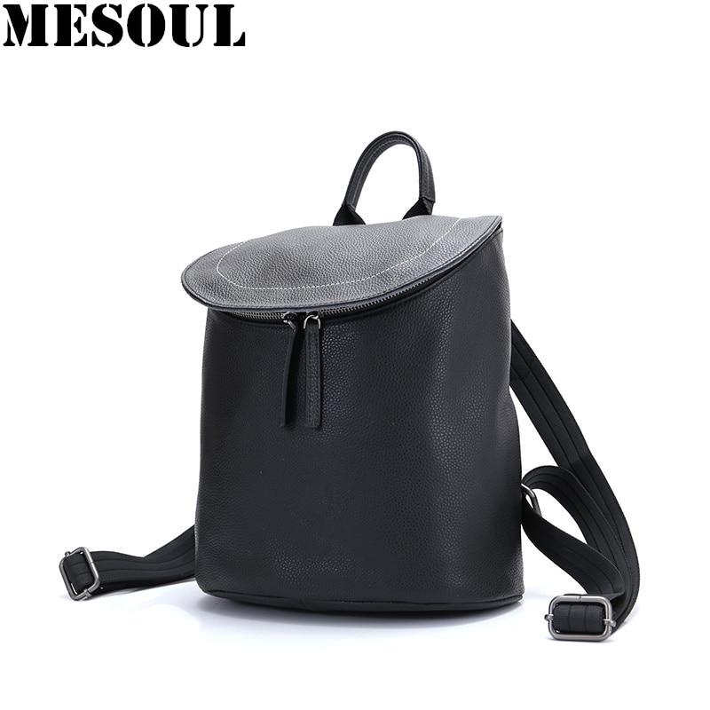 กระเป๋าเป้สะพายหลัง 2019 ใหม่แฟชั่นของแท้หนังผู้หญิงกระเป๋าเป้สะพายหลังสีดำผู้หญิงไหล่กระเป๋าโรงเรียนสำหรับวัยรุ่นกระเป๋าสุภาพสตรีกระเป๋าเป้สะพายหลัง-ใน กระเป๋าเป้ จาก สัมภาระและกระเป๋า บน AliExpress - 11.11_สิบเอ็ด สิบเอ็ดวันคนโสด 1