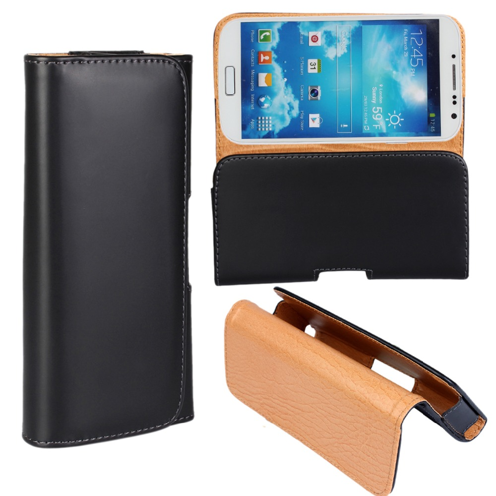 Case Cover For Samsung Galaxy S4 Waist Holster Belt Clip Bag Leather Pouch 5 inch Phone Accessories Fundas For Samsung Galaxy