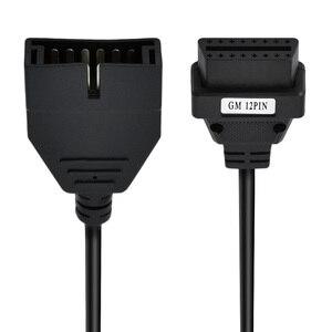 Image 5 - VAZ OBD2 adaptateur 12pin à obd1 obd2 connecteur pour GM VAZ pour daewoo matiz 12 broches OBDII câble GAZ 12PIN