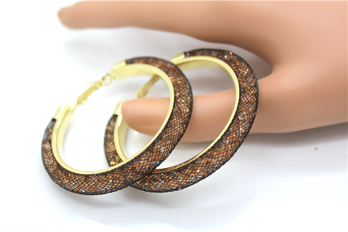 HTB148J7HXXXXXcSXpXXq6xXFXXXL - 40mm Big Gold Hoop Earrings Red Crystal Mesh Women Earing Gold Color Round Hoops Jewelry