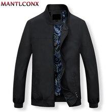 MANTLCONX Herren Jacken Frühling Casual Mäntel Einfarbig Herren Stehkragen Zipper Jacke Männlichen Bomber Jacke Männer Casual Oberbekleidung