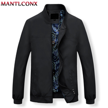 MANTLCONX Mens Jackets Spring Casual Coats Solid Color Mens Stand Collar Zipper Jacket Male Bomber Jacket Men Casual Outerwear
