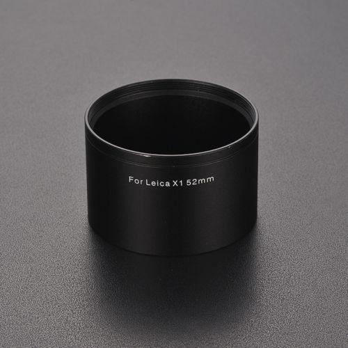52mm 52mm Adaptateur de filtre monture Tube Anneau pour Leica X1 X2 XE Caméra