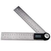 Stainless Steel 2in1 Digital Angle Finder Meter Protractor Gauge Scale Ruler 360 degree 400mm with Moving Blade