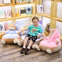 Babiqu 1pc 45*55cm Lovely Cartoon Kids Sofa Chair Plush Seat Baby Nest Sleeping Bed Adult Pillow Stuffed Teddy Bear Plush Toys