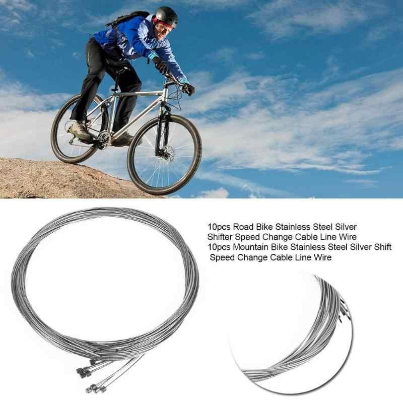 10 Uds., Cable de acero interior para bicicleta de carretera, cambio de velocidad, cambio de velocidad, Cable de freno, juegos de cables para bicicleta MTB