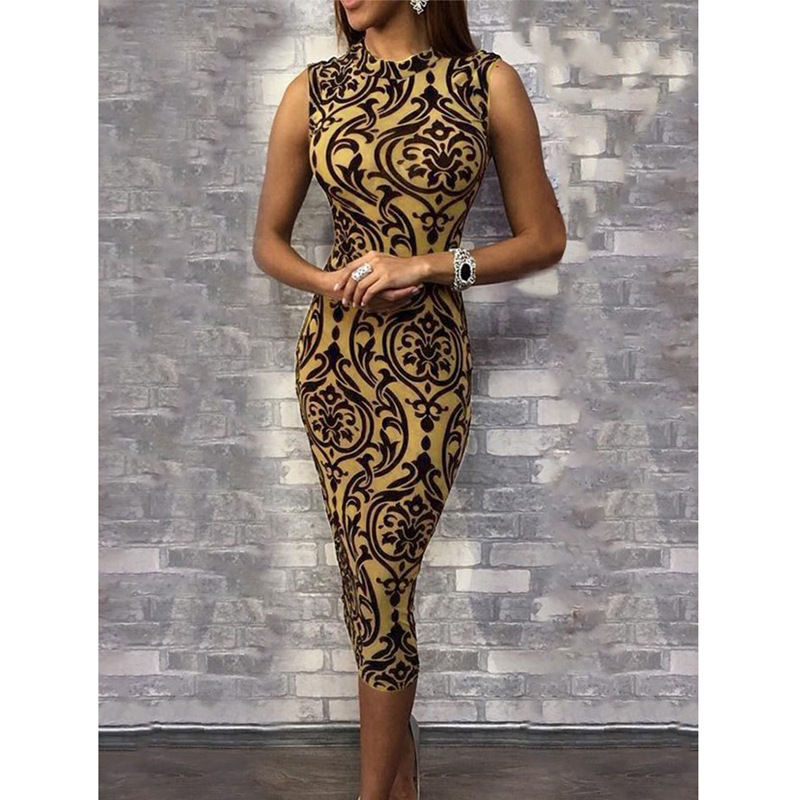 Floral Sexy Dress Women Elegant Vestidos Verano 2019 Hip Bag Sheath Bandage Dress Ladies Party Dress Maxi Dresses for Women XXL image