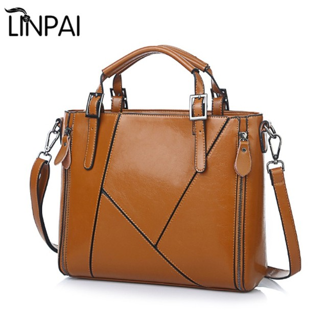 8e30263e093 US $43.86 |Fashion Designer Women Handbag Female PU Leather Bags Handbags  Ladies Shoulder Bag Office Bag Totes-in Shoulder Bags from Luggage & Bags  on ...
