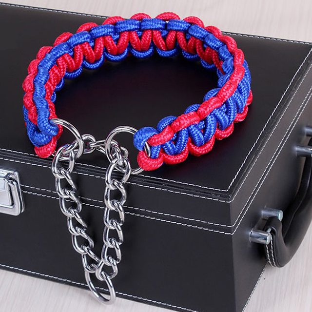 Adjustable Metal Dog Training Chain Collar 3