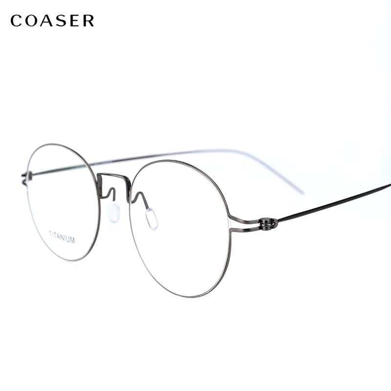 Ultralight Unisex Fashion Screwless Full Rim Titanium Myopia Eyewear Frame Clear Lens Black Silver Optical Eyeglasses Spectacle 100% Guarantee Men's Glasses