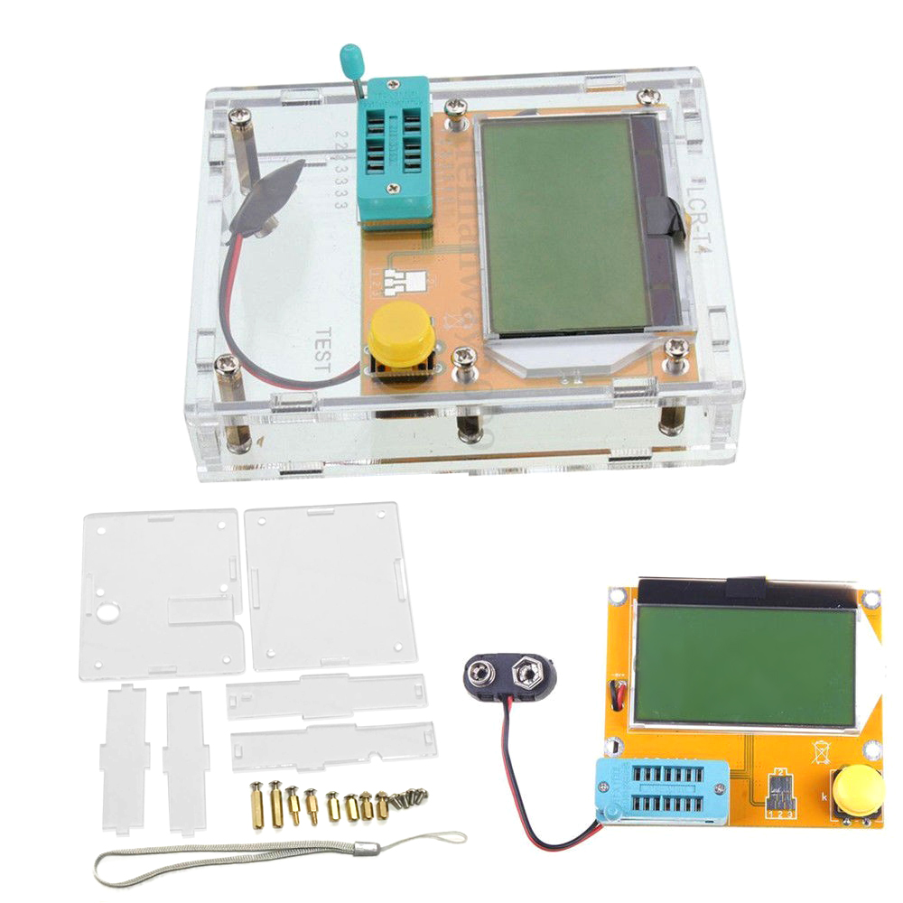 2016 New Arrival 12846 LCD M328 Digital Transistor Tester Meter Backlight Diode Triode Capacitance ESR Meter