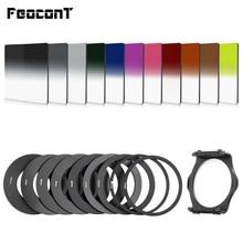 Kolorowe światło filtry 21in1 kwadratowy stopniowy filtr kolorów ND zestaw metalowe pierścionki uchwyt filtra na aparat canon Cokin P Series
