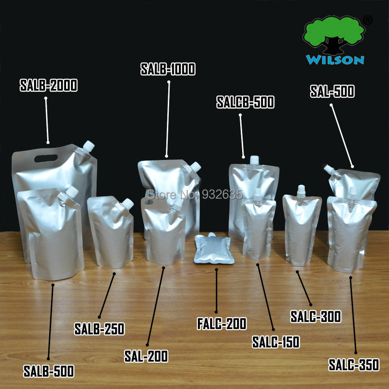 50ml 2000 Ml Aluminum Foil Mylar Stand Up Spout Bag 20 Pcs