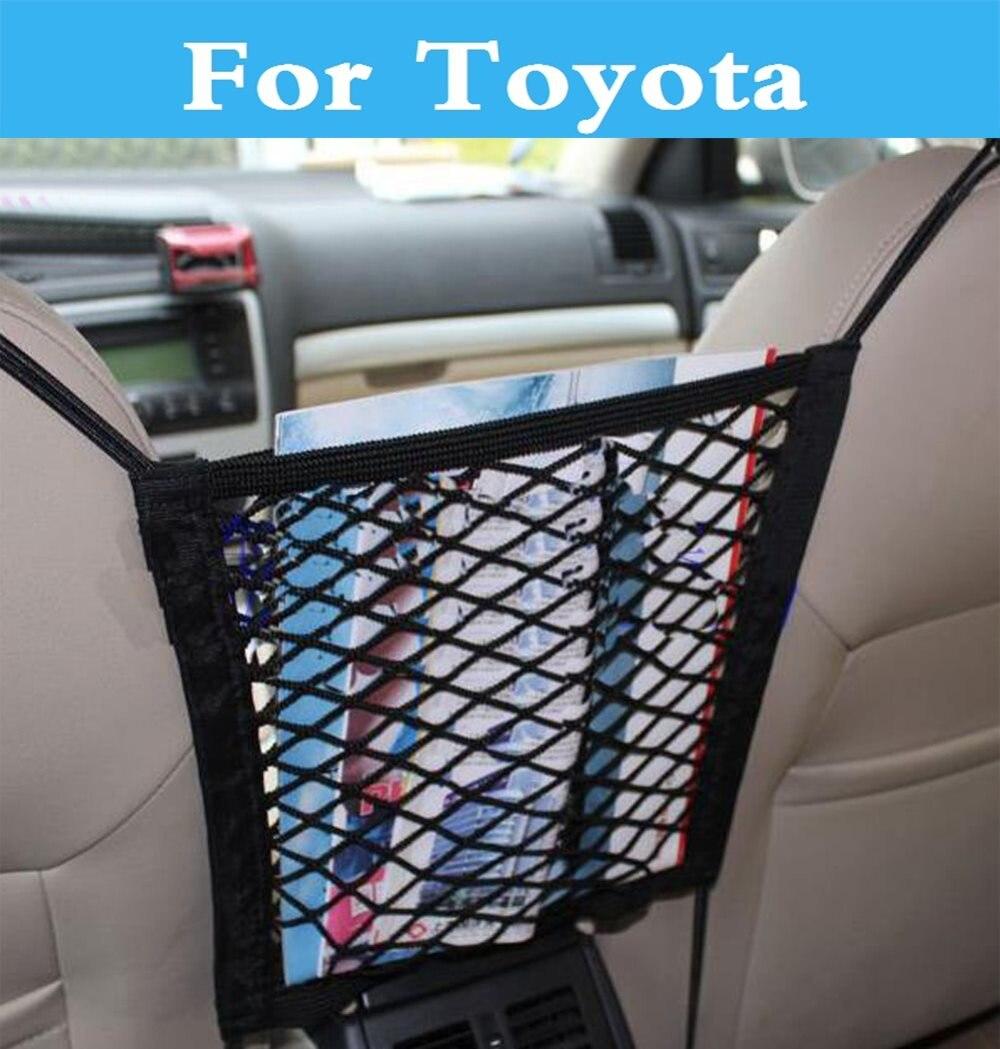 Siège Arrière de voiture Sac De Rangement En Filet Net Organisateur Bagages pour Toyota Soarer Sequoia Sprinter Carib Réussir Urban Cruiser Avant-Garde