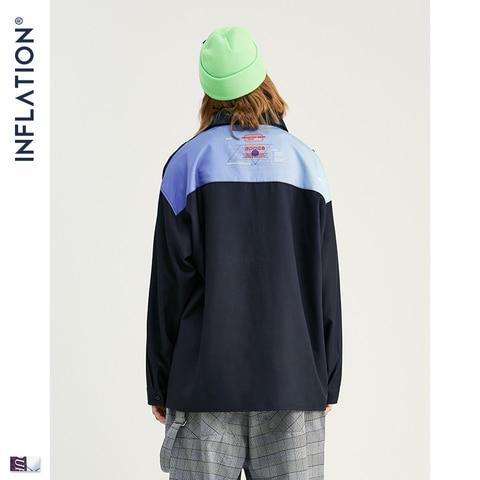 INFLATION Men Long Sleeve Shirts Digital Printing Oversized Shirts 2019 Autumn Male Streetwear Fashion Shirts 92140W Karachi