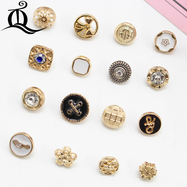 acea273b39828 US $1.9 18% OFF|10pcs/Lot 8 13mm high quality gold lion Metal buttons  fashion shirt coat buttons leisure suit suits buttons sewing accessories-in  ...