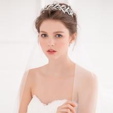 Rhinestone Branches Flower Tiaras And Crowns Wedding Headpiece Bridal Hair Jewelry Accessories Women Tiara Hairwear