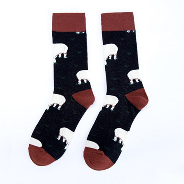 2018 Farm Animal Sheep Cow Pig Premium Funky Men Women Socks Happy Short Bamboo Male Cotton Pop Crazy Female Trekking Socks