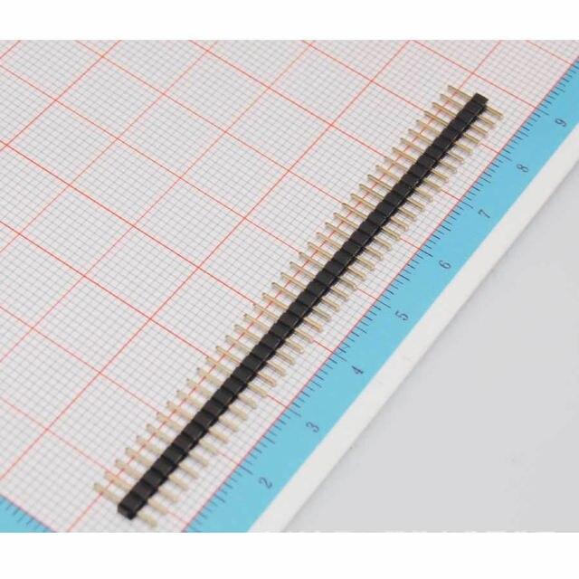 86056 Free Shipping 10pcs 2mm 40 Pin Male Single Row Pin Header Strip