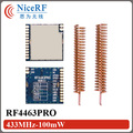 4pcs/lot Si4463 SPI interface 100mW RF4463PRO low cost  433MHz  RF Transceiver Module