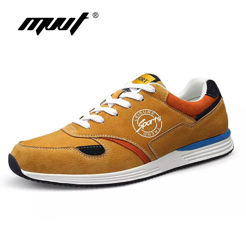 Suede leather Men Shoes Lace Up Breathable Men Casual Shoes Comfortable Men flats walking Shoes Sapatos Masculino
