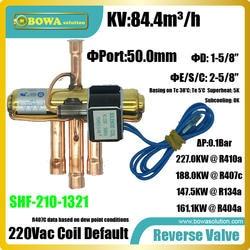 227KW R410a 4-способ обратный клапаны установлен в винтовой компрессор теплового насоса кондиционер системы для производства горячей или
