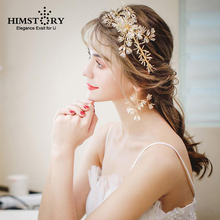 Pure Handmade Floral Vine Headband Bride Wedding Crystal Women Hairband Hair Jewelry Prom PArty Hairwear