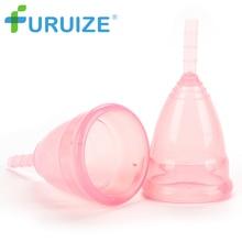 Copa menstrual Hygiener 100% Grado de silicona médica copa menstrual reutilizable Copa de la señora Copa menstrual Mejor Qualiy higiene Lady Cup